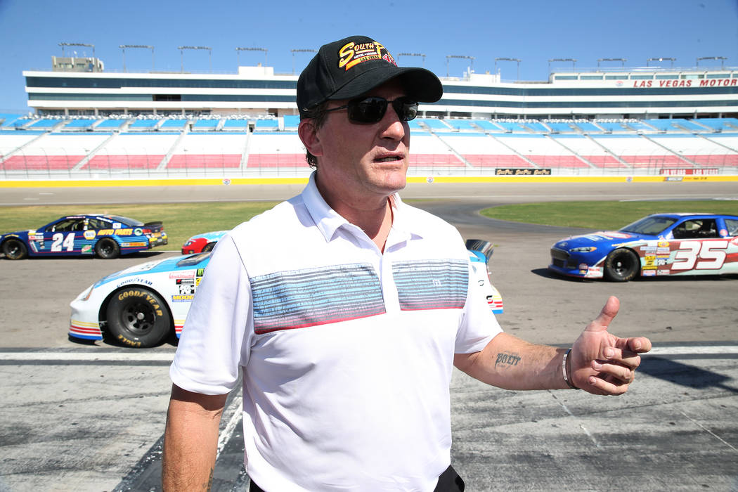 Former hockey star Jeremy Roenick after driving hot laps at the Las Vegas Motor Speedway in Las Vegas, Wednesday, June 6, 2018. Erik Verduzco Las Vegas Review-Journal @Erik_Verduzco