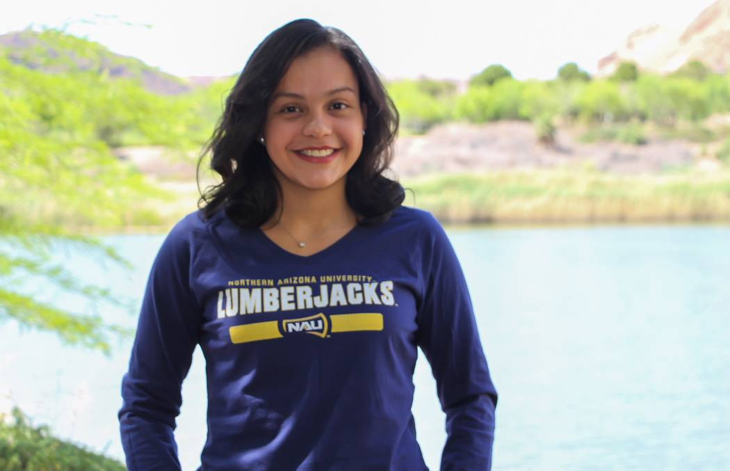 Rancho's Astrid Villeda is a member of the Las Vegas Review-Journal's all-state girls swimming team.