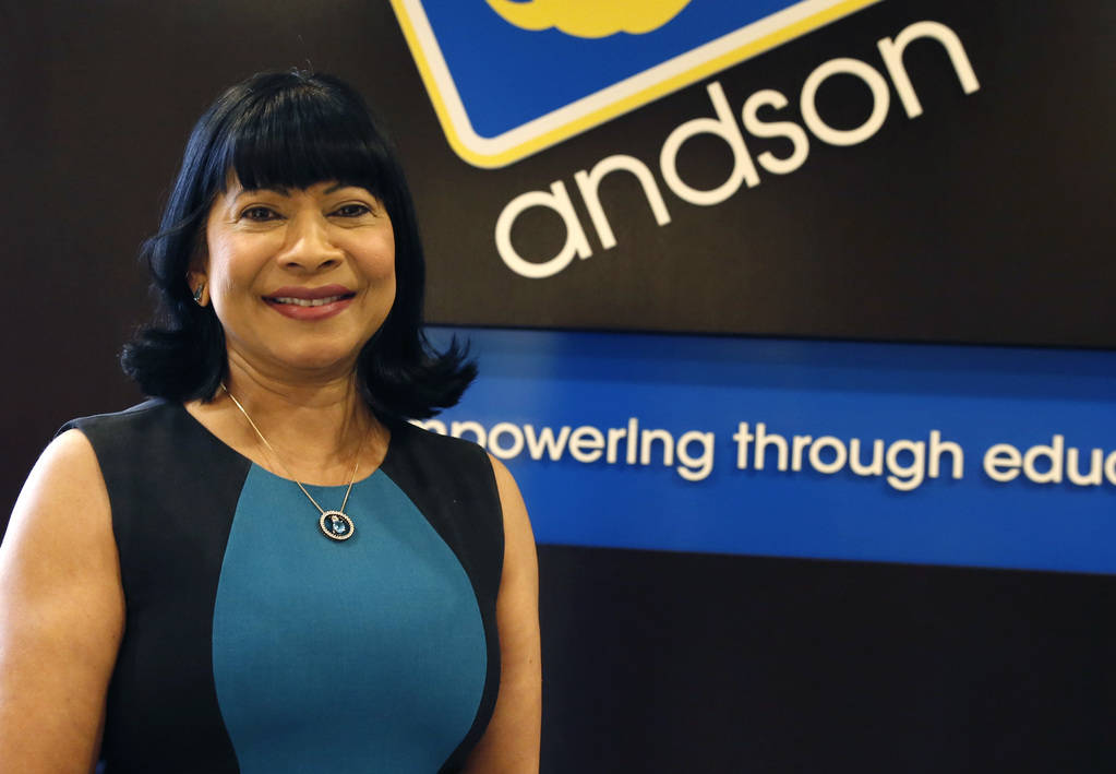 Sonia Anderson, founder and CEO OF Andson, Inc., poses for photo at her Las Vegas office on Thursday, June 7, 2018. Bizuayehu Tesfaye/Las Vegas Review-Journal @bizutesfaye