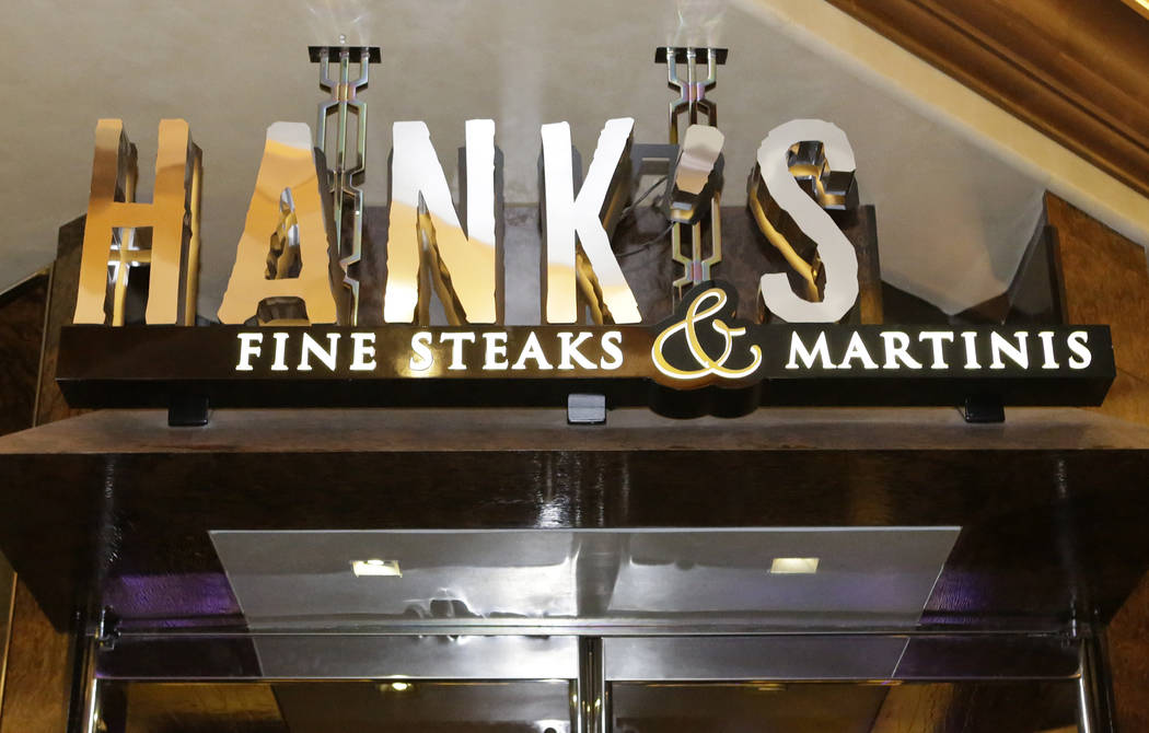 Hank's Fine Steaks and Martinis is seen in Green Valley Ranch Friday, Oct. 14, 2016, in Henderson. Bizuayehu Tesfaye/Las Vegas Review-Journal Follow @bizutesfaye