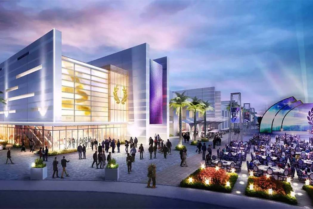 Rendering of Caesars Forum Meeting Center, to be built by Caesars Entertainment Corp. on the Las Vegas Strip. (Clark County/Twitter)