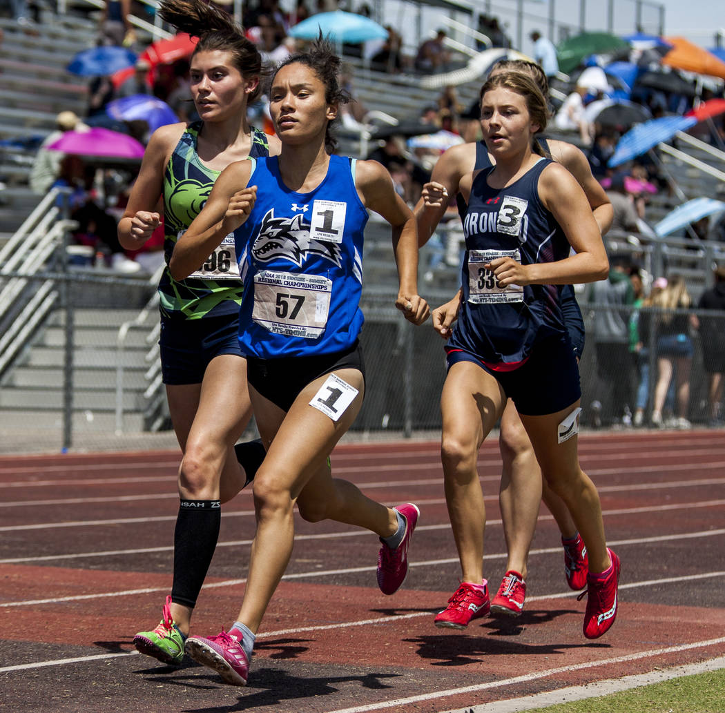 Basic's Raquel Chavez is a member of the Las Vegas Review-Journal's all-state girls track and field team.