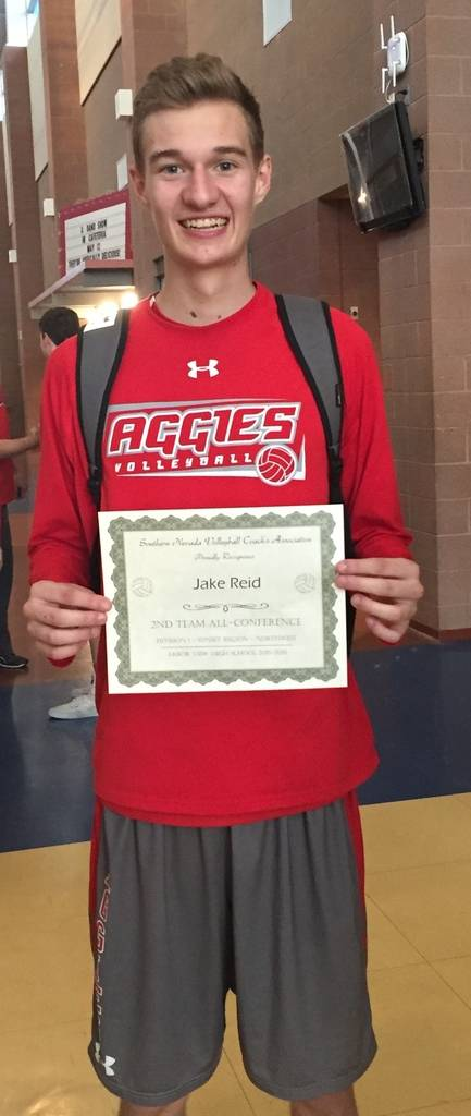 Arbor View's Jake Reid is a member of the Las Vegas Review-Journal's all-state boys volleyball team.