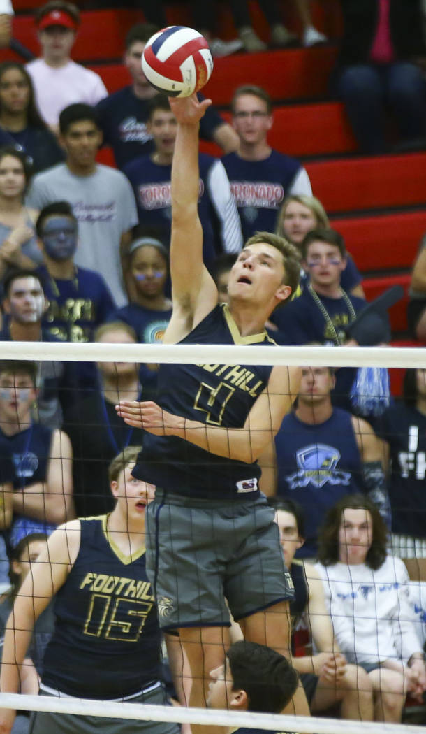 Foothill's Tanner Lester is a member of the Las Vegas Review-Journal's all-state boys volleyball team.