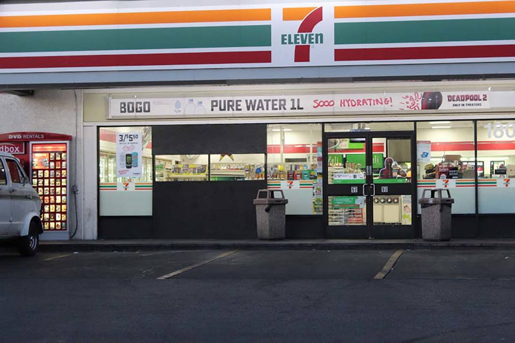 A woman suspected of driving under the influence crashed through the front window of a 7-Eleven at 1805 E. Tropicana Ave., injuring three people, including a man whose neck was broken when a slot ...