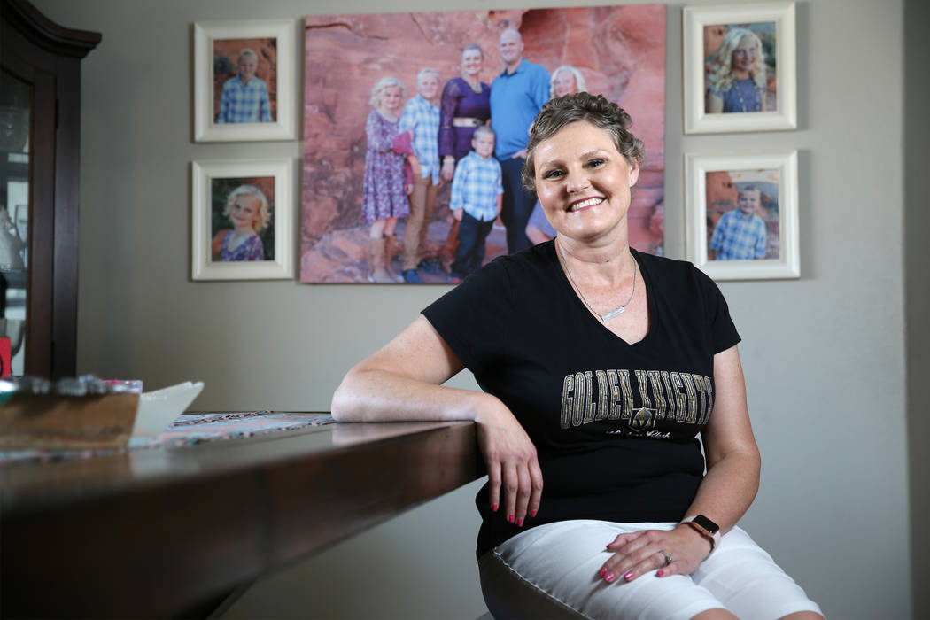 Stacy Perry, who was diagnosed with Stage 4 colon cancer, at her Las Vegas home, Thursday, June 7, 2018. Erik Verduzco Las Vegas Review-Journal @Erik_Verduzco