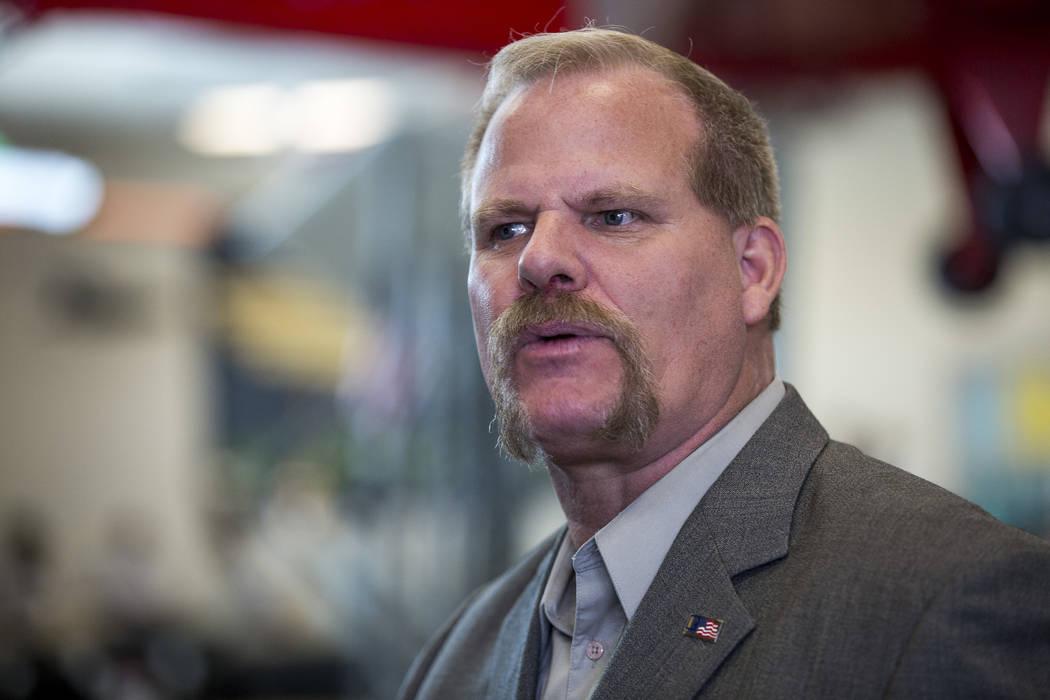 Clark County School Board Trustee Kevin Child, seen in 2017. (Las Vegas Review-Journal)
