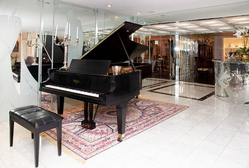 Liberace Mansion owner Martyn Ravenhill has collected 10 of Wladziu Valentino Liberace's pianos. (Tonya Harvey Real Estate Millions)