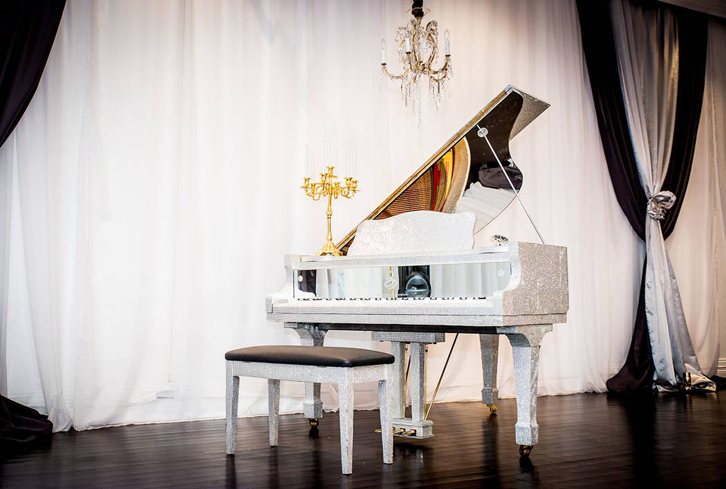 This is one of 10 pianos in the home. Many were owned by Liberace. (Tonya Harvey Real Estate Millions)