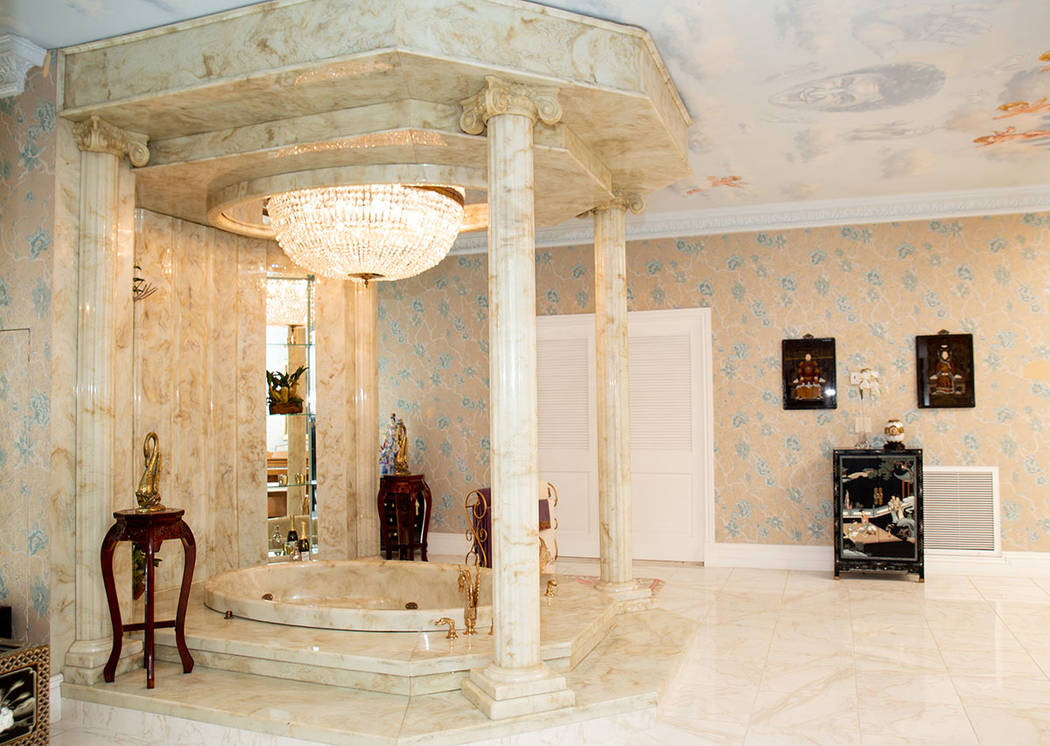 Major work was done on Liberace's famous master bathroom. (Tonya Harvey Real Estate Millions)