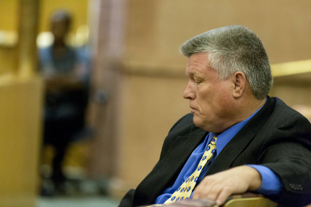 North Las Vegas Constable Robert Eliason appears before the Clark County Commission, Wednesday, July 5, 2017, in Las Vegas. (Las Vegas Review-Journal)