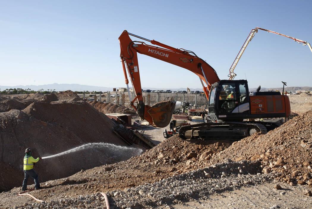 The construction site of the new Las Vegas ballpark photographed on Thursday, June 7, 2018, in Summerlin. Bizuayehu Tesfaye/Las Vegas Review-Journal @bizutesfaye