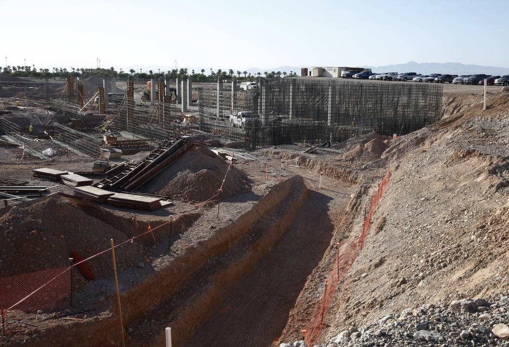 The tunnel that leads from the locker room to the field is seen at the construction site of the new Las Vegas ballpark on Thursday, June 7, 2018, in Summerlin. Bizuayehu Tesfaye/Las Vegas Review-J ...