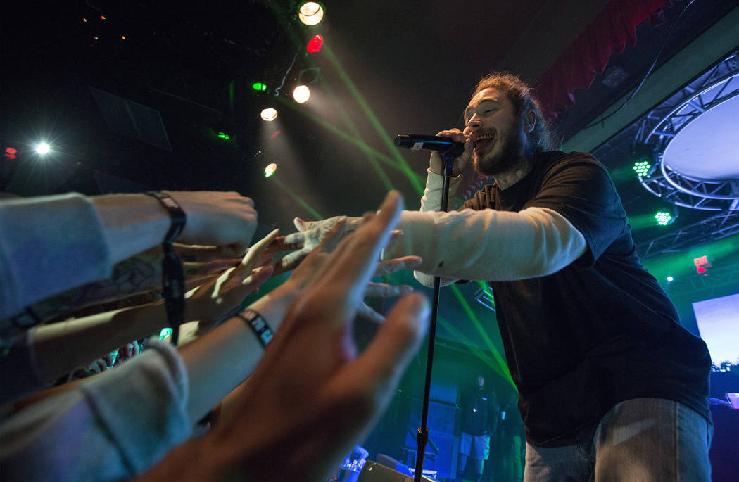 Post Malone performs during Snow Fest at Park City Live on Saturday, January 20, 2018, in Park City, Utah. (Photo by Barry Brecheisen/Invision for Park City Live/AP Images)