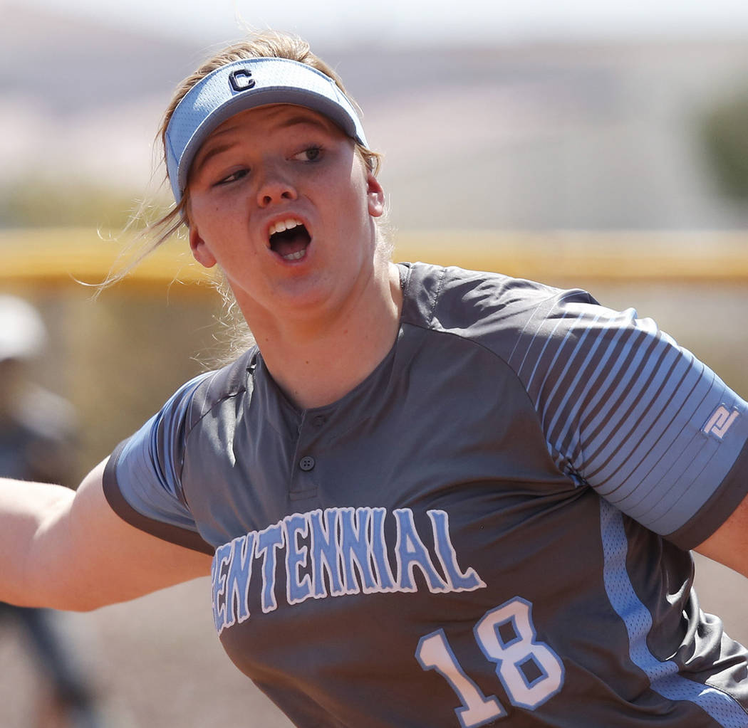 Centennial's Amanda Sink is a member of the Las Vegas Review-Journal's all-state softball team.
