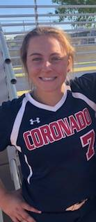 Coronado's Ashley Ward is a member of the Las Vegas Review-Journal's all-state softball team.