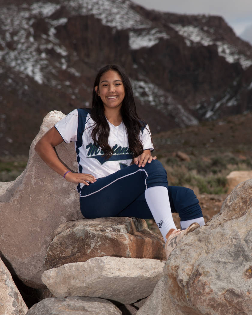 Damonte Ranch's Brylynn Vallejos is a member of the Las Vegas Review-Journal's all-state softball team.