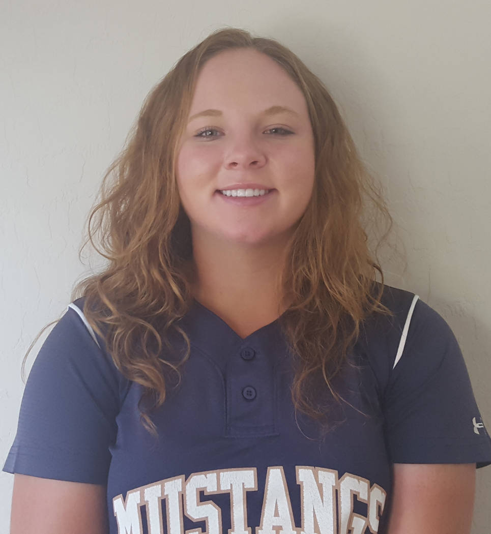 Shadow Ridge's Alisha Schultz is a member of the Las Vegas Review-Journal's all-state softball team.