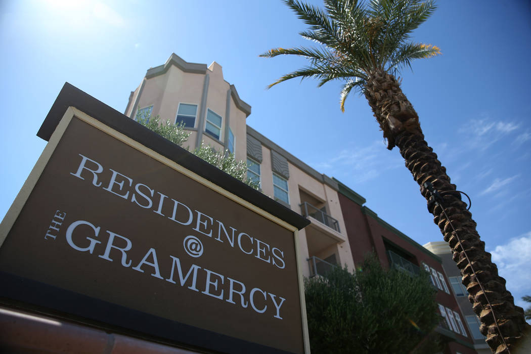 The Gramercy's apartment buildings in Las Vegas, Thursday, June 7, 2018. Erik Verduzco Las Vegas Review-Journal @Erik_Verduzco