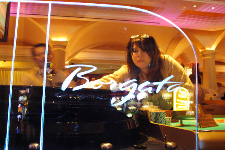 Dealer Sydney Vasaturo conducts a game of roulette at the Borgata casino in Atlantic City, N.J. (Wayne Parry/AP)