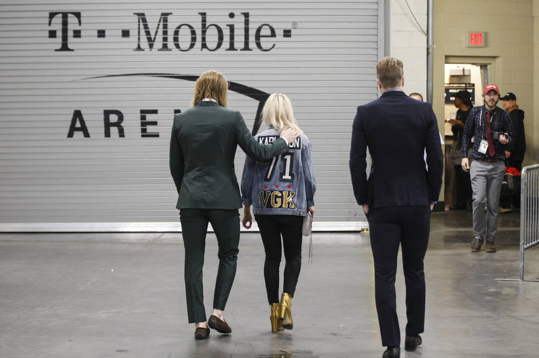 Golden Knights center William Karlsson (71) leaves the arena after losing to the Washington Capitals in Game 5 to win the Stanley Cup Final at T-Mobile Arena in Las Vegas on Thursday, June 7, 2018 ...