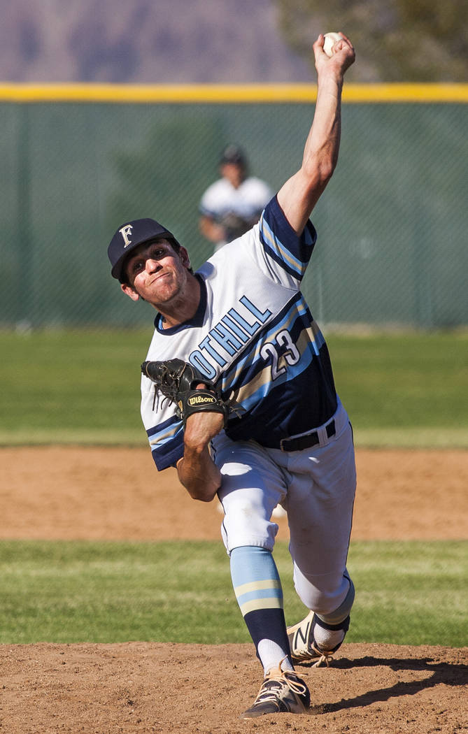 Foothill's Andrew Hauck is a member of the Las Vegas Review-Journal's all-state baseball team.