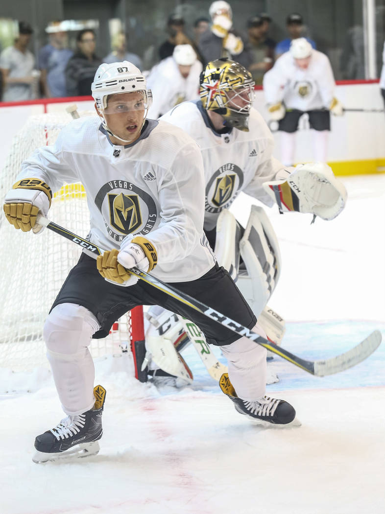 Vegas Golden Knights' Vadim Shipachyov takes part in a scrimmage during team practice at the City National Arena on Friday, Sept. 15, 2017, in Las Vegas. Richard Brian Las Vegas Review-Journal @ve ...