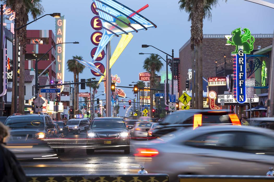 East Fremont Street in downtown Las Vegas on Saturday, June 9, 2018. Richard Brian Las Vegas Review-Journal @vegasphotograph