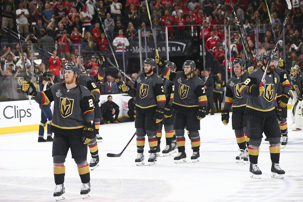 9745844e0d9 Golden Knights players react after losing in Game 5 of the Stanley Cup  Final to the