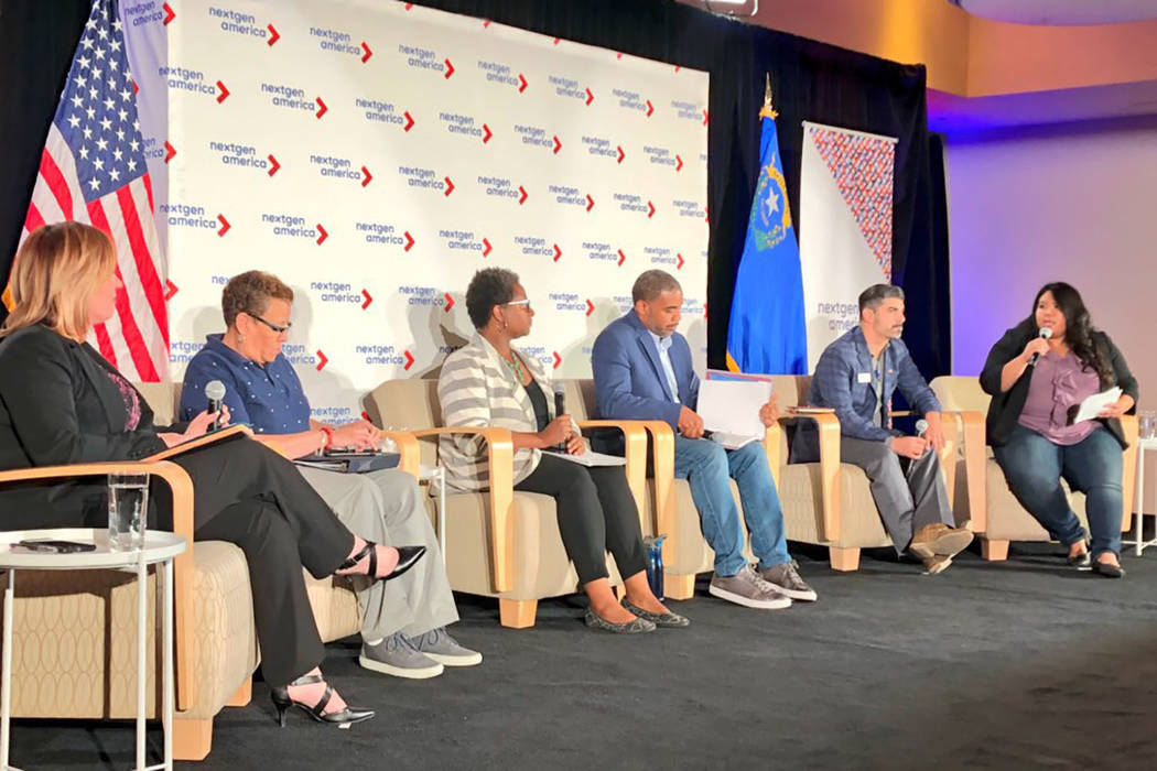 Five Democrats running for Nevada's 4th Congressional District, accountant Amy Vilela, state Sen. Pat Spearman, Nevada System of Higher Education Regent Allison Stephens, former U.S. Rep. Steven H ...