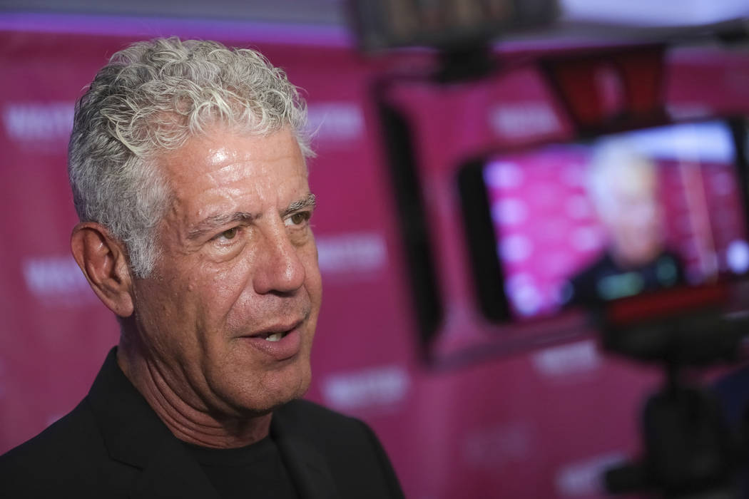 "FILE - In this Oct. 5, 2017 file photo, Executive Producer and narrator chef Anthony Bourdain attends the premiere of ""Wasted! The Story of Food Waste"" at the Alamo Drafthouse Cinema in ..."