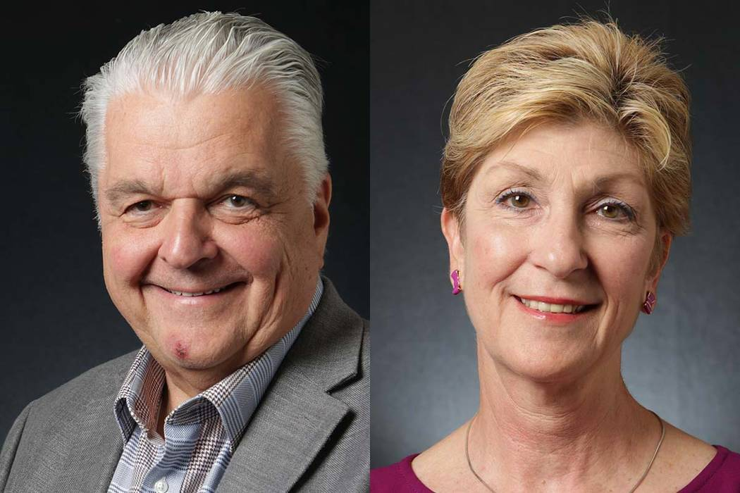 Steve Sisolak, left, and Chris Giunchigliani, Democratic candidates for governor. Michael Quine/Las Vegas Review-Journal @Vegas88s