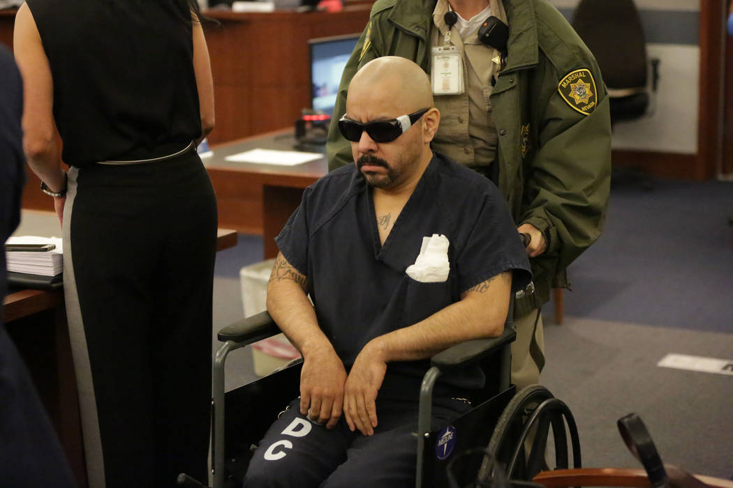 Gustavo Ramos-Martinez, who has been jailed for eight years in the double murder of two people more than 20 years ago, appears in court on Friday, June 8, 2018. Michael Quine Las Vegas Review-Jour ...