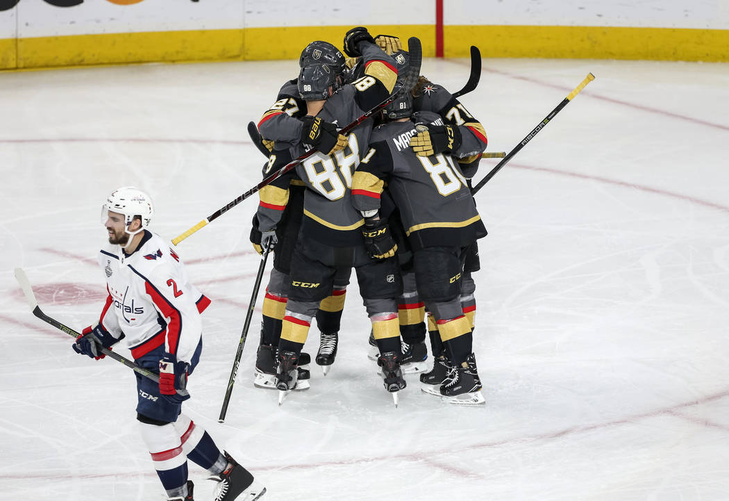 during the second period of Game 5 of the NHL hockey Stanley Cup Final between the Vegas Golden Knights and the Washington Capitals at T-Mobile Arena in Las Vegas on Thursday, June 7, 2018. Richar ...