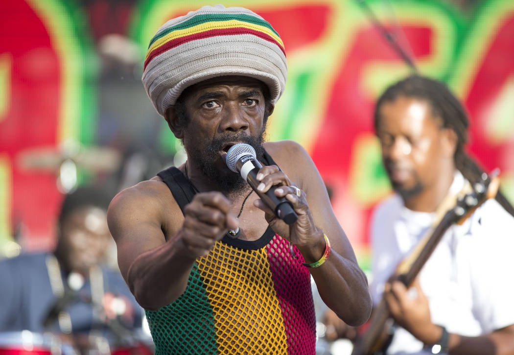 Jamaican singer Cocoa Tea performs during Reggae in the Desert at the Clark County Amphitheater in downtown Las Vegas on Saturday, June 9, 2018. Richard Brian Las Vegas Review-Journal @vegasphotograph