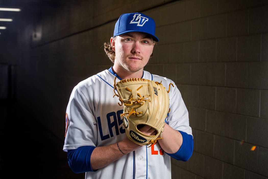 51s pitcher P.J. Conlon during the 51s media day at Cashman Field in Las Vegas on Tuesday, April 3, 2018. Patrick Connolly Las Vegas Review-Journal @PConnPie