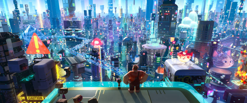 """INTO THE INTERNET – In """"Ralph Breaks the Internet: Wreck-It Ralph 2,"""" Vanellope von Schweetz and Wreck-It Ralph leave the arcade world behind to explore the uncharted and thri ..."""