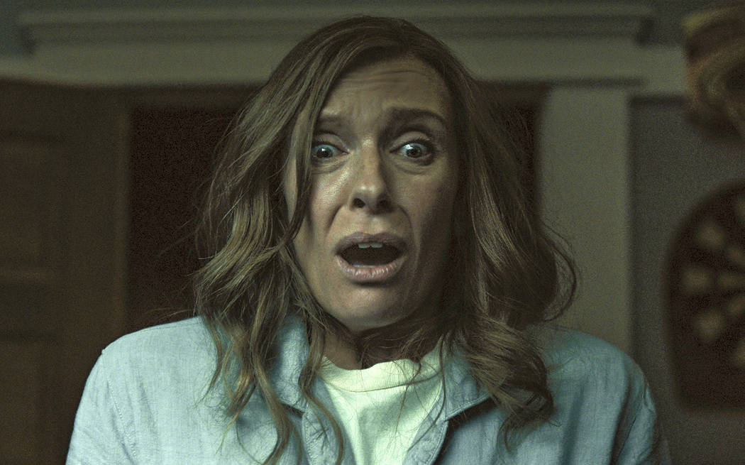 "This image released by A24 shows Toni Collette in a scene from ""Hereditary."" (A24 via AP)"