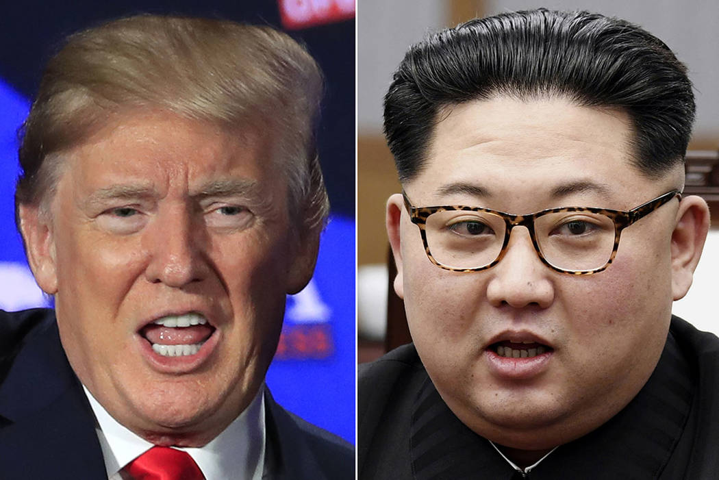 President Donald Trump, left, and North Korean leader Kim Jong Un (The Associated Press)