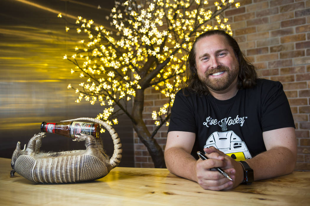 Reed Allen Slobusky, founder of SkinnyFats, at his office next to the original restaurant location at 6261 Dean Martin Drive in Las Vegas on Friday, June 8, 2018. Chase Stevens Las Vegas Review-Jo ...