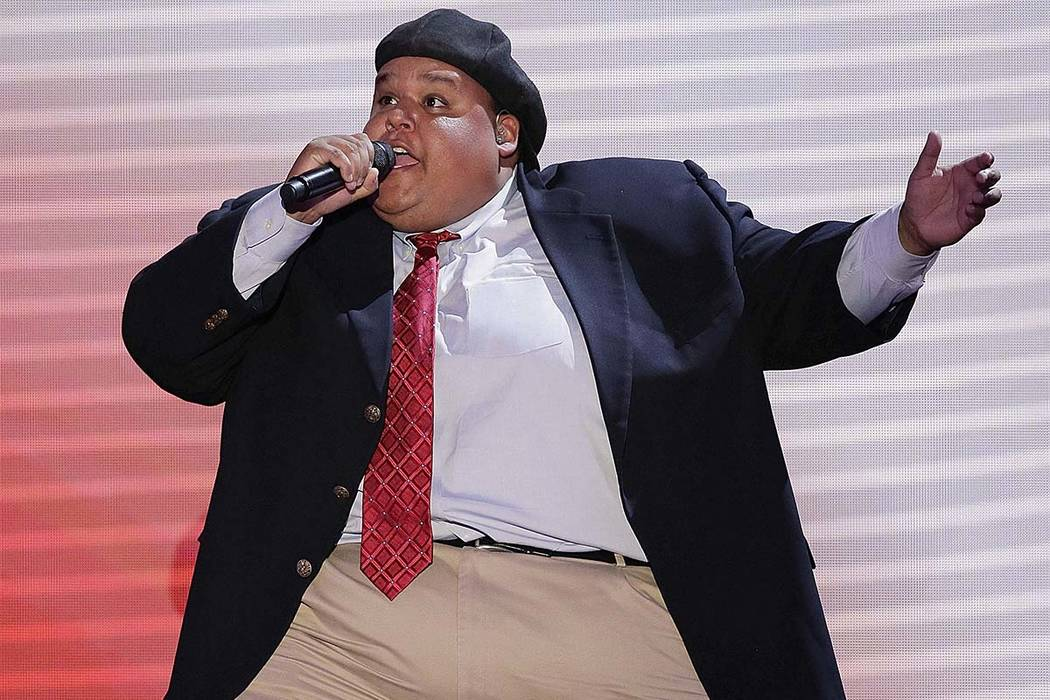 "In this Aug. 28, 2012, file photo, Neal Boyd sings during the Republican National Convention in Tampa, Florida. Boyd, an opera singer who won NBC's ""America's Got Talent"" and dabbled in Missouri p ..."