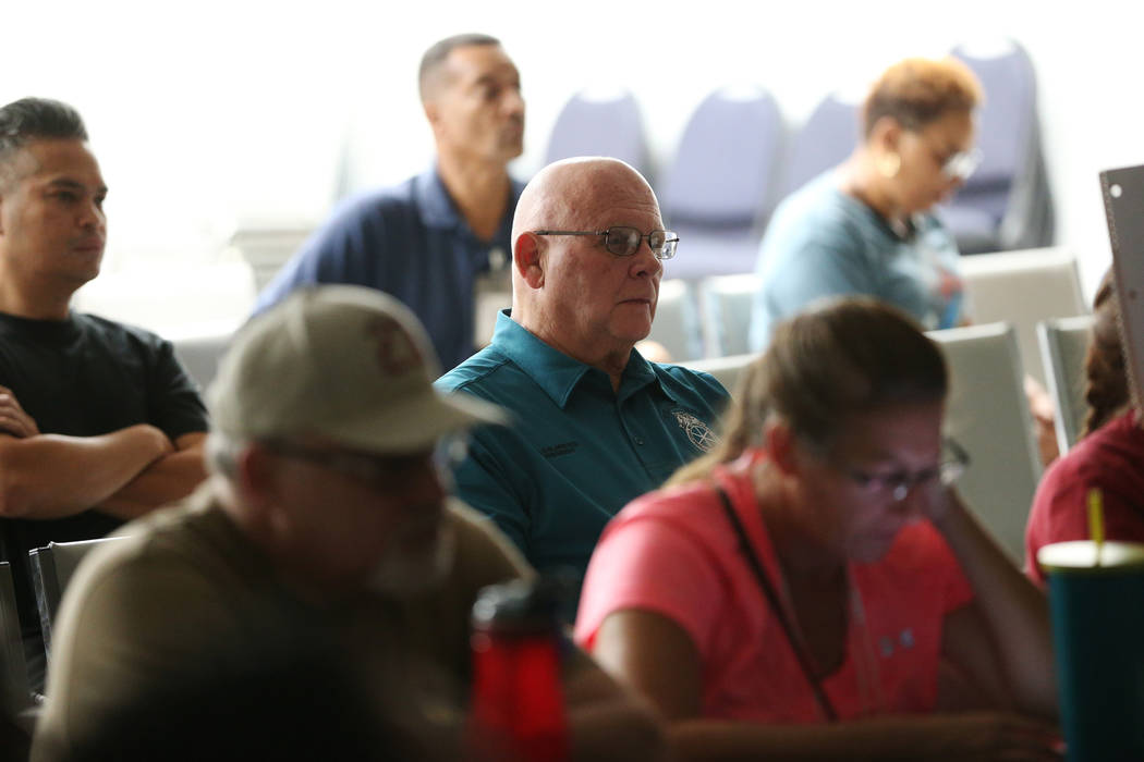 Al Ghilarducci, president of Teamsters Local 14, attends a watch party of the state Supreme Court hearing involving Teamsters Local 14 to determine who represents support staff, at the Teamsters L ...