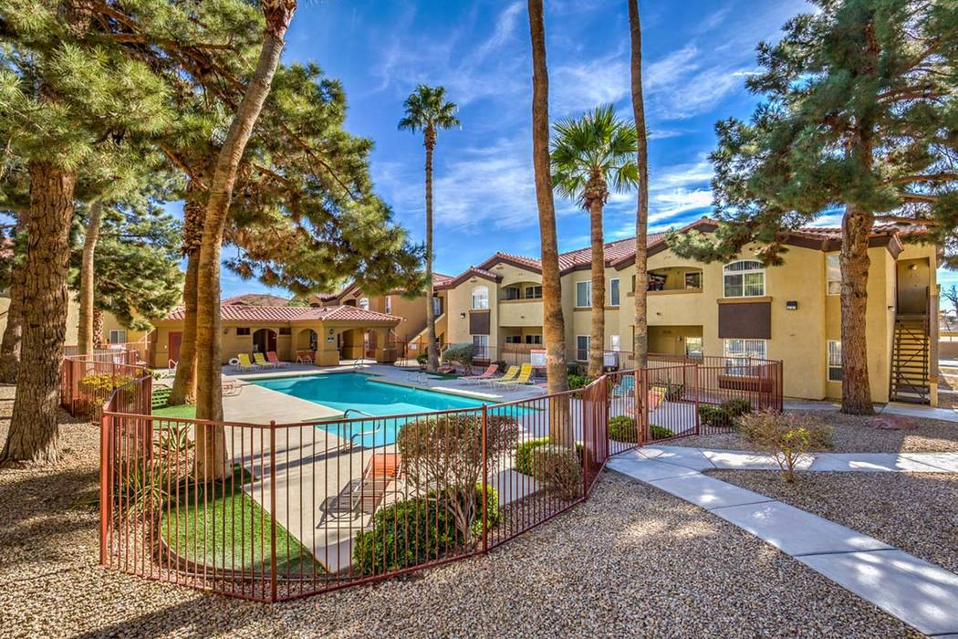 Bridge Investment Group acquired the Estates at Westernaire apartment complex, near Nellis Air Force Base in the northeast Las Vegas Valley, for $29.9 million. (NorthMarq Multifamily)