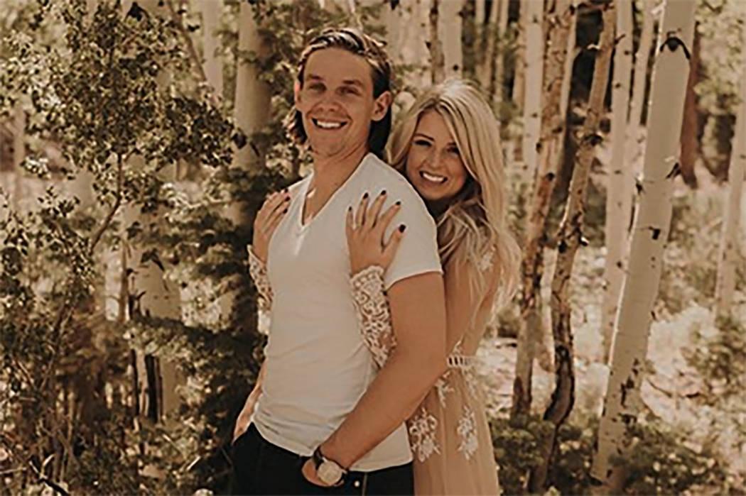 Erik Haula and Kristen Boege show off her engagement ring on an Instagram post on Monday, June 11, 2018. (ehaula/Instagram)