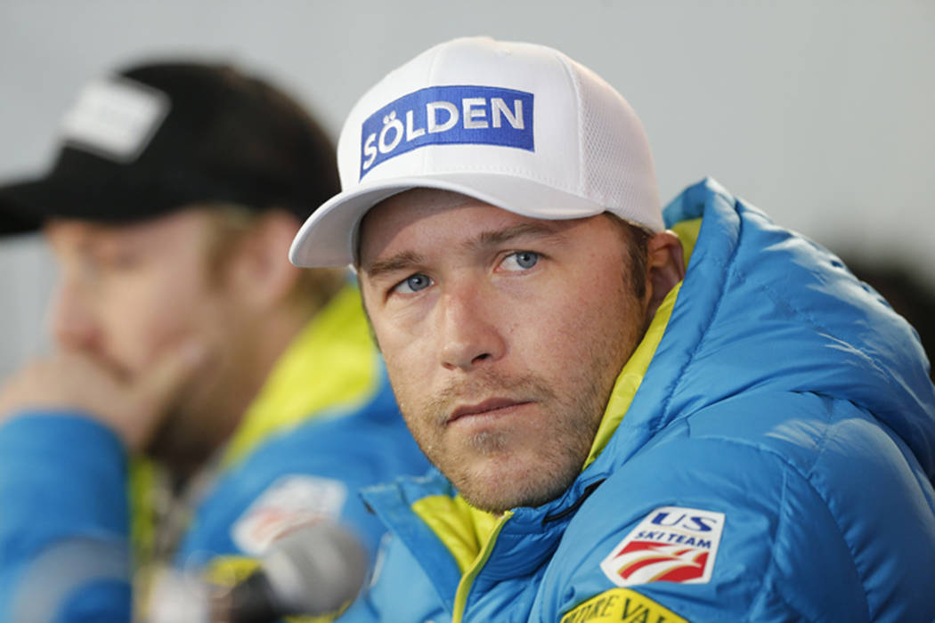 FILE - In this Feb. 2, 2015 file photo, USA men's ski team member Bode Miller participates in a news conference at the alpine skiing world championships in Beaver Creek, Colo. Authorities reported ...