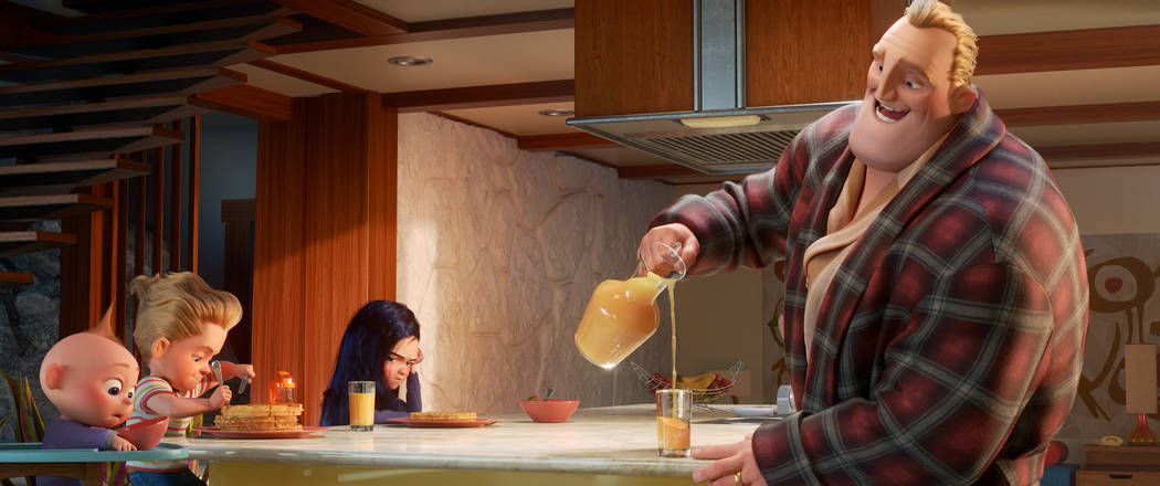 HE'S GOT THIS – Bob Parr aka Mr. Incredible attempts his most heroic feat yet: spearheading life at home with Violet, Dash and baby Jack-Jack, whose super powers are about to be disc ...