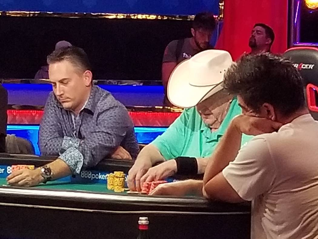 Poker player Doyle Brunson plays at the World Series of Poker at the Rio Convention Center in Las Vegas on June 12, 2018. David Schoen/Las Vegas Review-Journal