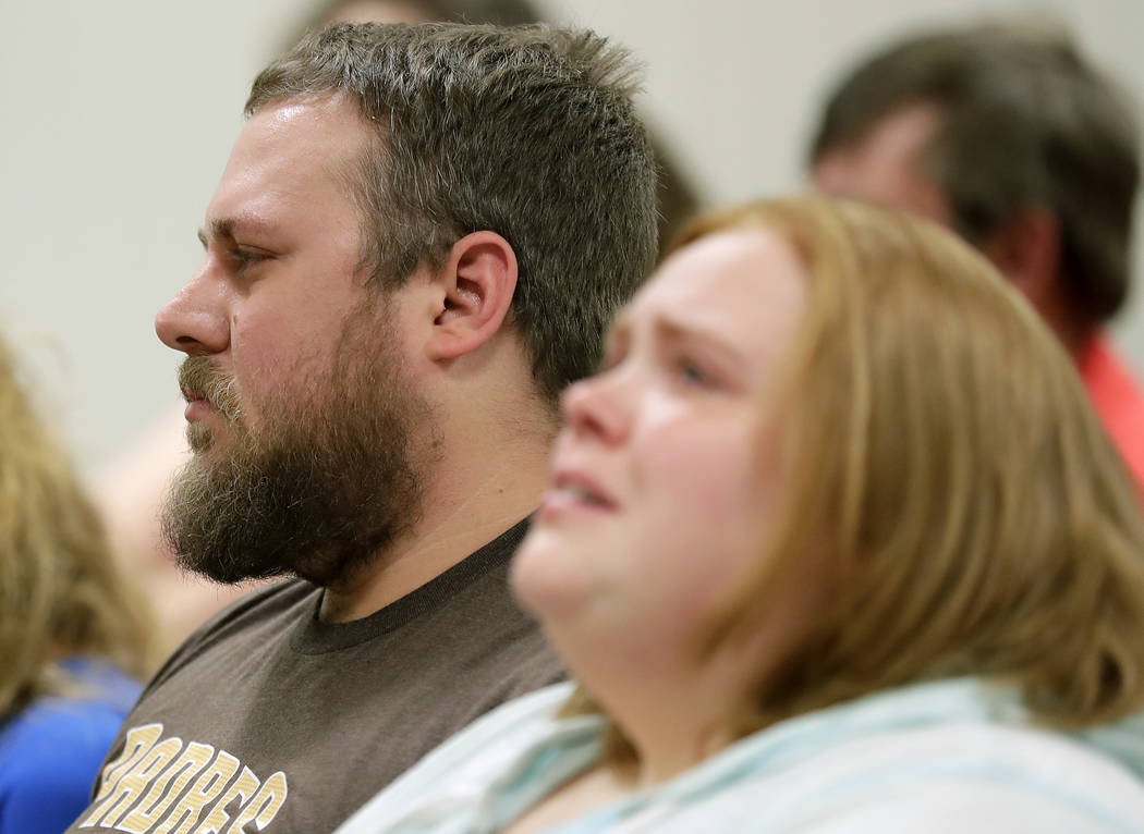 Greg Gussert, the father of Brianna Gussert listens in court as his ex-wife Nicole L. Gussert, 37 of Appleton, who is charged with one count of child neglect resulting in death and three counts of ...