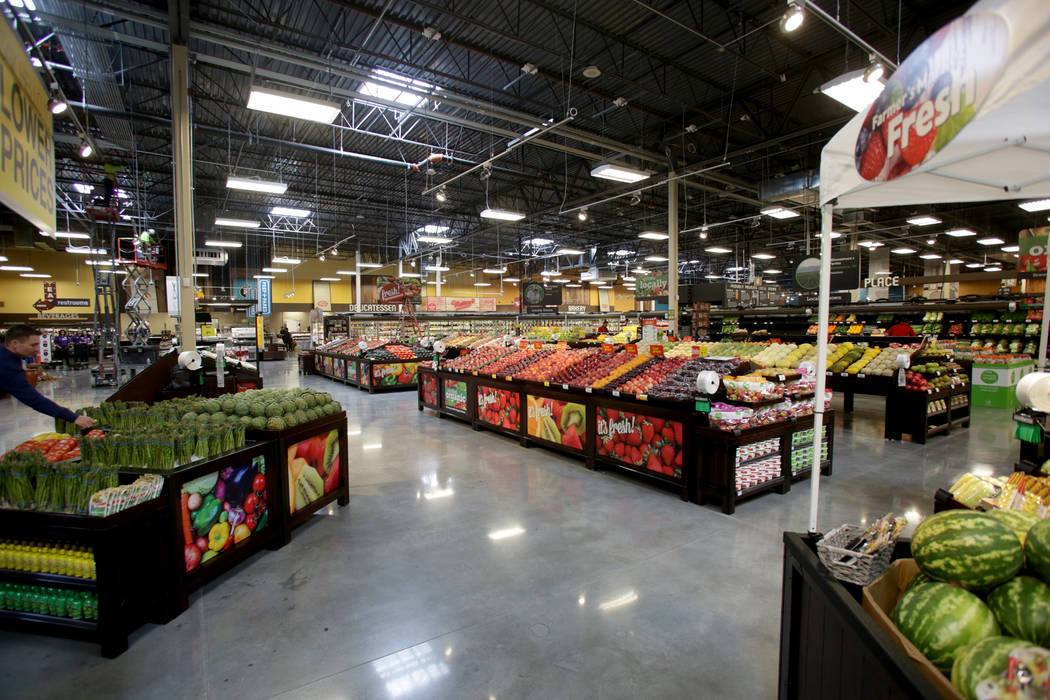 The produce section of the new 125,000-square-foot Smith's Marketplace on Skye Canyon Road on Tuesday, June 12, 2018 the day before it's grand opening. Michael Quine Las Vegas Review ...