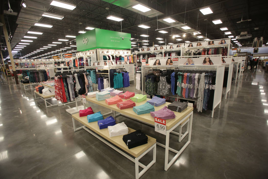 The new 125,000-square-foot Smith's Marketplace on Skye Canyon Road will feature apparel and home goods as well as groceries, a pharmacy and gas pumps as seen on Tuesday, June 12, 2018 the ...